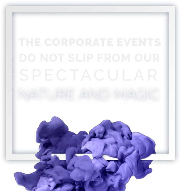 The corporate events do nos slip from our spectacular nature and magic.